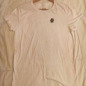 Simple White Rose T-Shirt